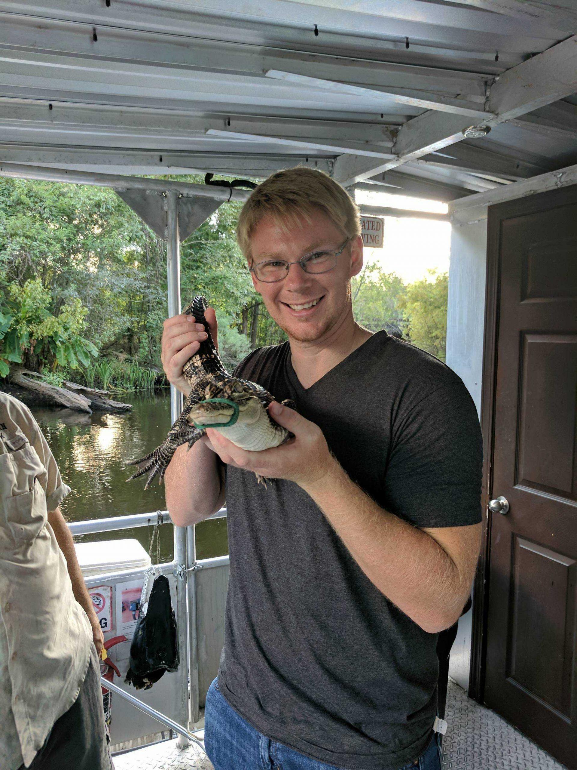 zeth holding alligator