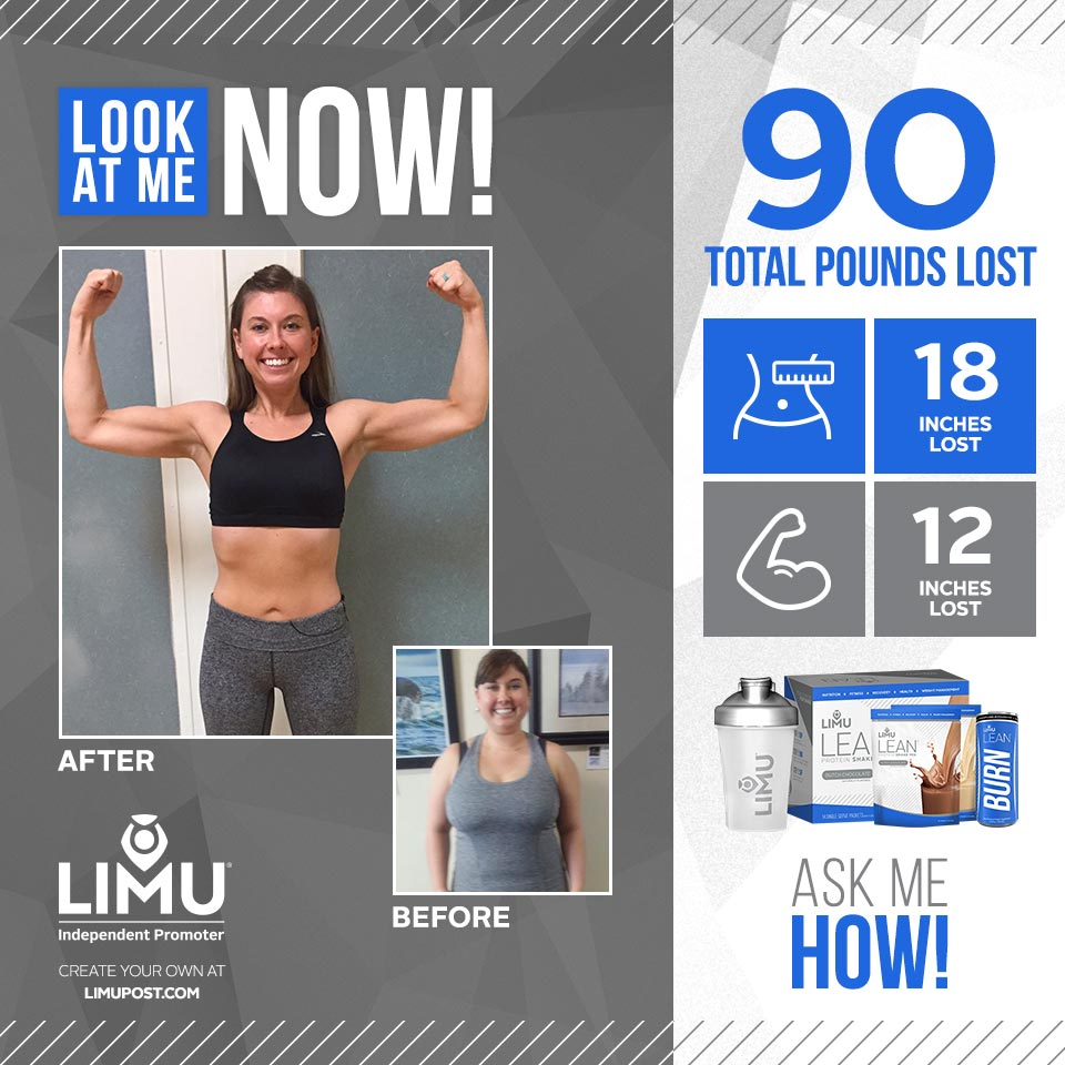 before and after photo weightloss limu burn lean