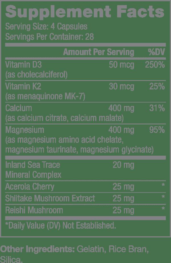 Nutrifii Magnical-d supplement facts
