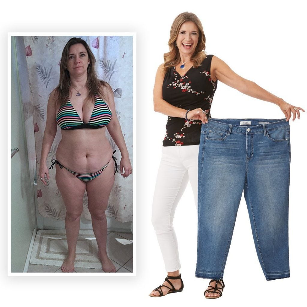 before and after photo of weight loss slenderiiz